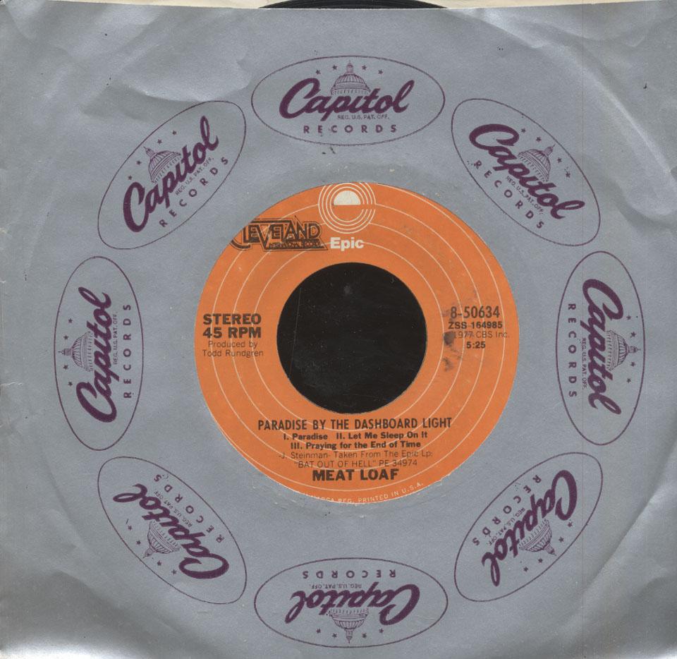 "Meat Loaf Vinyl 7"" (Used)"