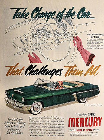 Mercury: Take Charge Of The Car Vintage Ad