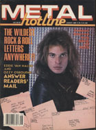 Metal Hotline Magazine August 1986 Magazine