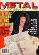 Metal Hotline Magazine September 1986 Magazine