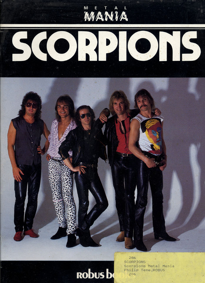 Metal Mania Scorpions Book By Scorpions 1984 At Wolfgang S