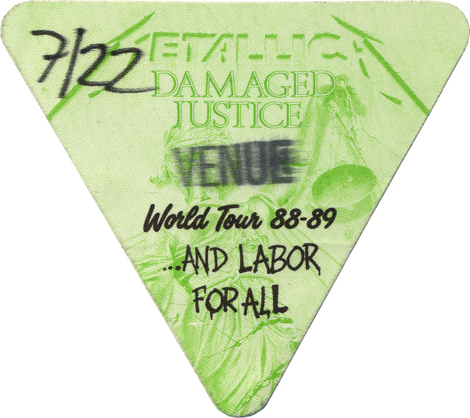 Metallica Backstage Pass
