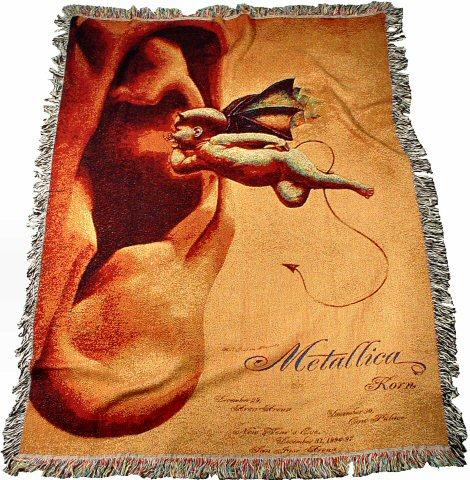 Metallica BlanketThrow From Arco Arena Dec 40 40 At Wolfgang's Fascinating Metallica Throw Blanket