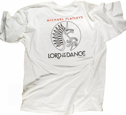 Michael Flatley Men's Vintage T-Shirt reverse side