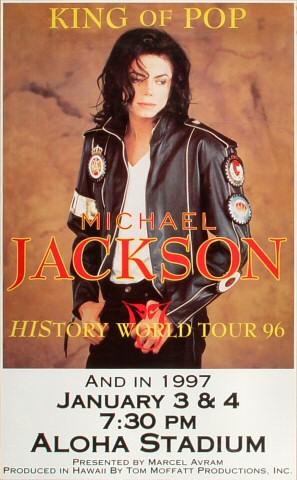 Michael Jackson Poster From Aloha Stadium Jan 3 1997 At