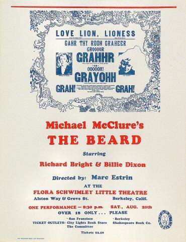 Michael McClure Handbill
