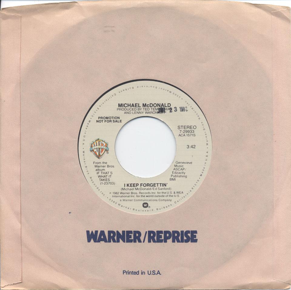 "Michael McDonald Vinyl 7"" (Used)"