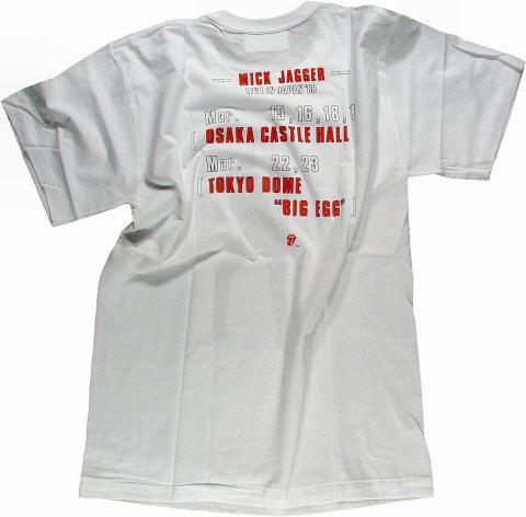 Mick Jagger Men's Vintage T-Shirt reverse side