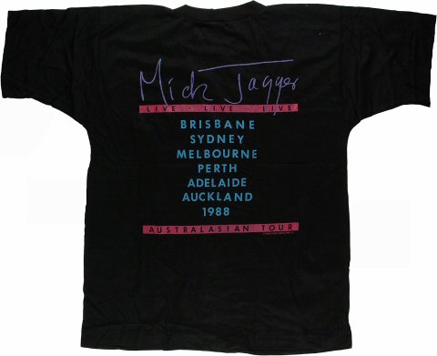 Mick Jagger Men's Vintage T-Shirt reverse side