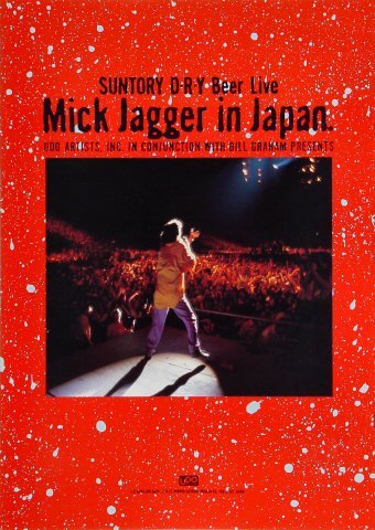 Mick Jagger Program reverse side
