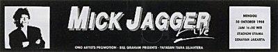 Mick Jagger Sticker