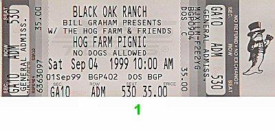 Mickey Hart & Planet Drum Vintage Ticket