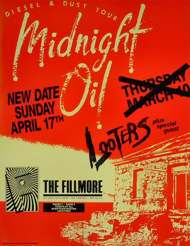 Midnight Oil Poster