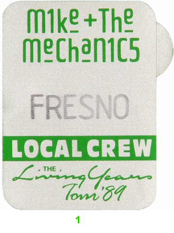 Mike and the Mechanics Backstage Pass