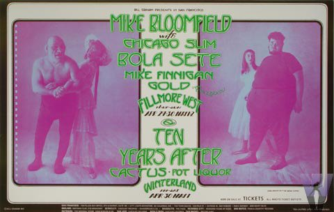 Mike Bloomfield Postcard
