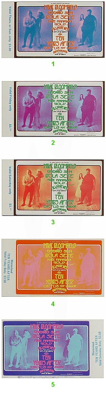 Mike Bloomfield Vintage Ticket