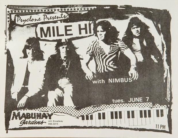 Mile Hi Handbill