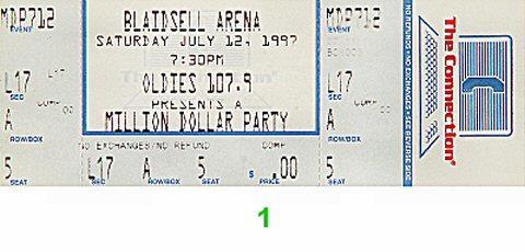 Million Dollar Party Vintage Ticket
