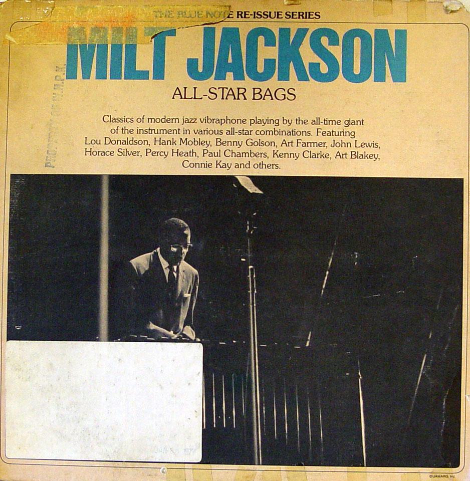 """Milt Jackson All-Star Bags Vinyl 12"""" (Used)"""