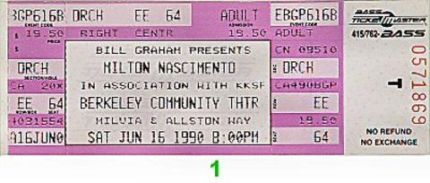 Milton Nascimento Vintage Ticket