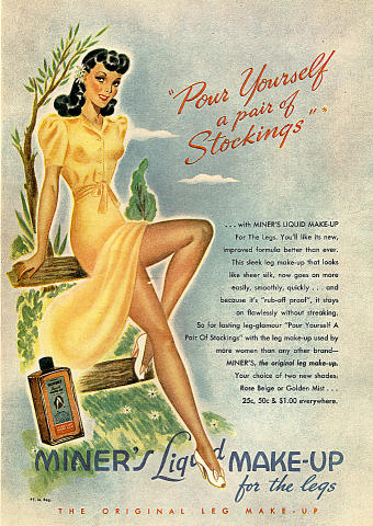 Miner's Liquid Makeup: For The Legs Vintage Ad