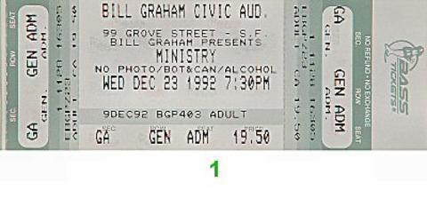 Ministry Vintage Ticket