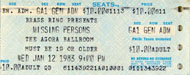 Missing Persons Vintage Ticket