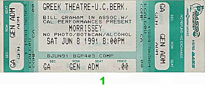 Morrissey Vintage Ticket
