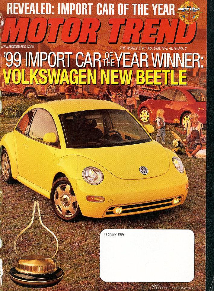 Motor Trend: '99 Import Car Of The Year Winner
