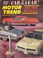 Motor Trend  Feb 1,1965 Magazine