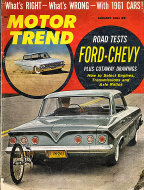 Motor Trend  Jan 1,1961 Magazine