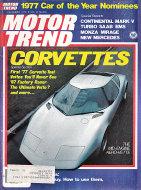 Motor Trend Magazine December 1976 Magazine