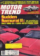 Motor Trend Magazine June 1983 Magazine