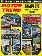 Motor Trend Magazine October 1964 Magazine