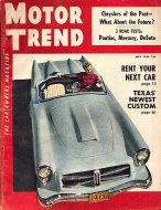 Motor Trend  May 1,1954 Magazine