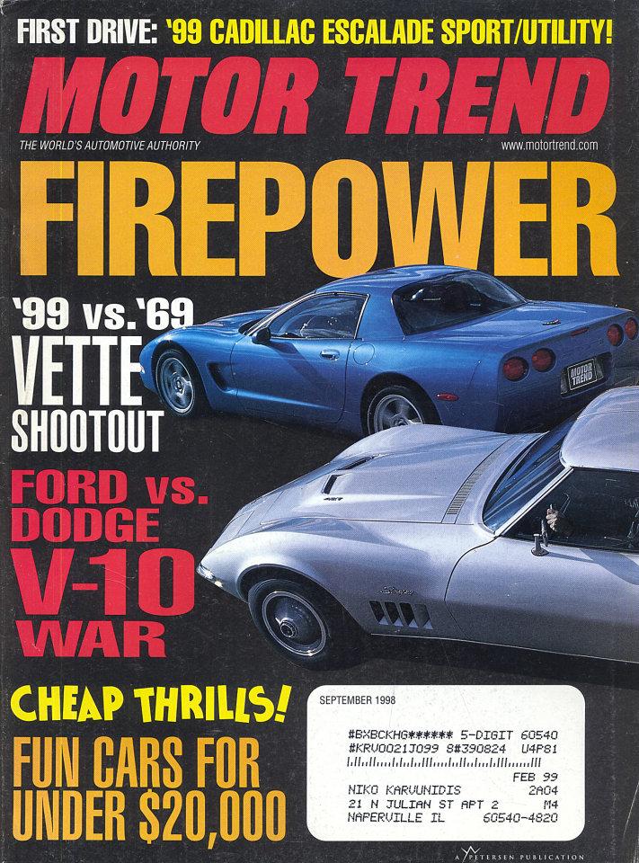 Motor Trend  Sep 1,1998