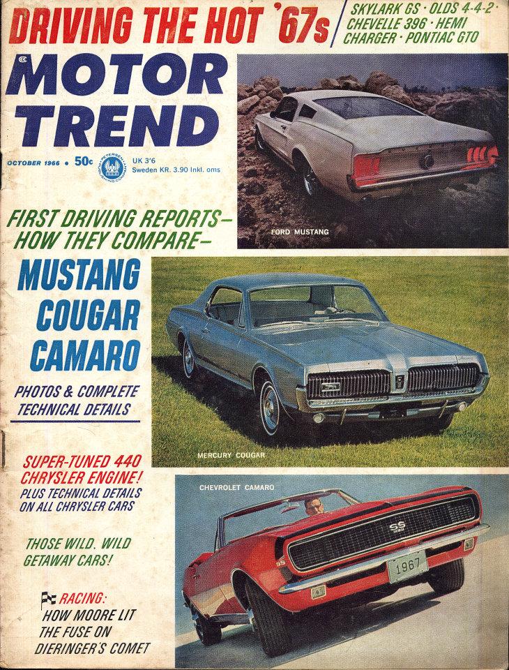 Motor Trend Vol  18 No  10 Magazine, Oct 1, 1966 at Wolfgang's