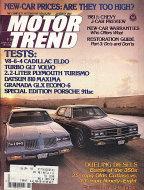 Motor Trend Vol. 33 No. 1 Magazine