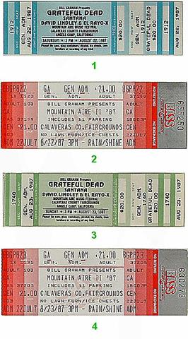 Mountain Aire Music Festival Vintage Ticket
