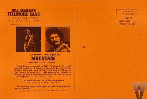 Mountain Postcard reverse side