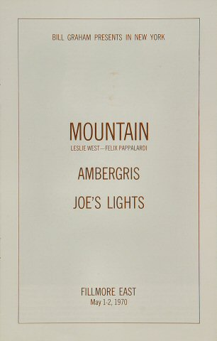 Mountain Program reverse side