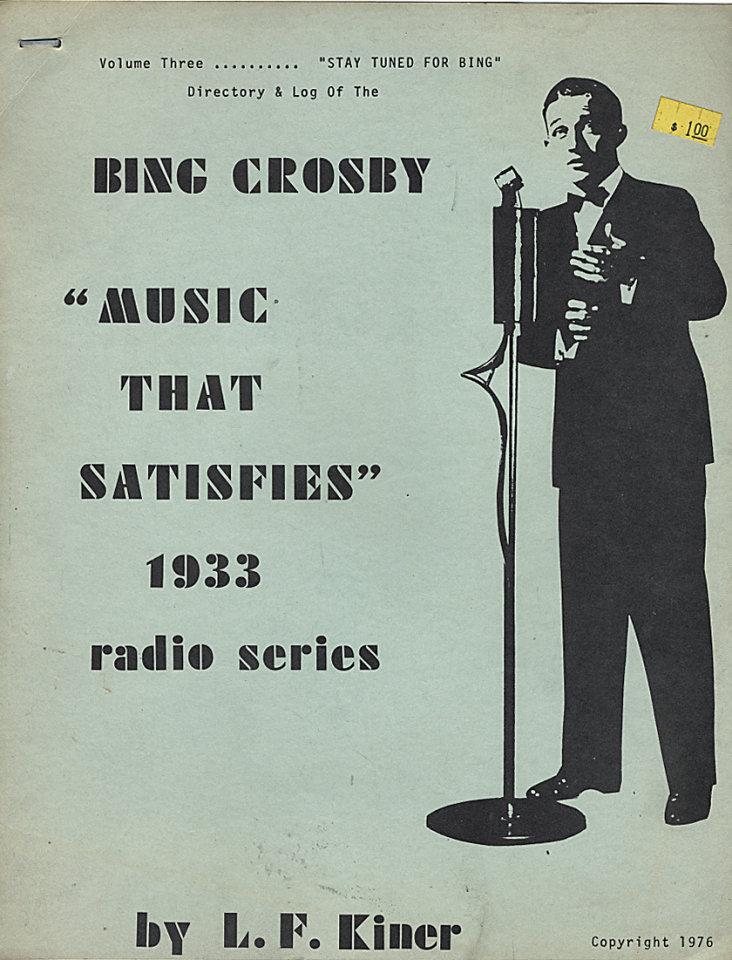 Music That Satisfies - 1933 Radio Series: Volume 3