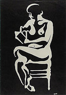 Naked Reader Poster