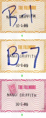 Nanci Griffith Backstage Pass