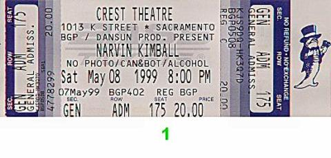 Narvin Kimball Vintage Ticket