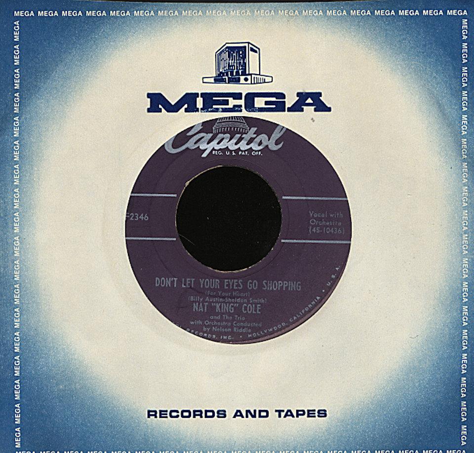 """Nat King Cole Vinyl 7"""" (Used)"""