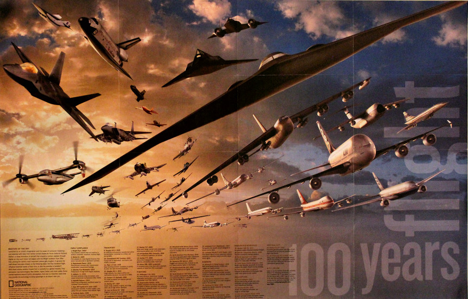 National Geographic: 100 Years Of Flight Poster