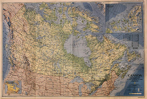 National Geographic: Map Of Canada Poster