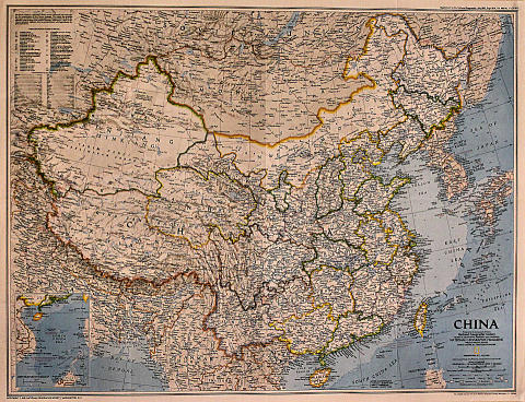 National Geographic: Map Of China Poster