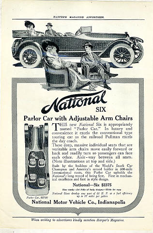 National Six: Parlor Car Vintage Ad